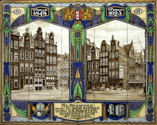 PBD, gelegenheidsltableau, decor Korsten, 1923 (coll. Meentwijck)