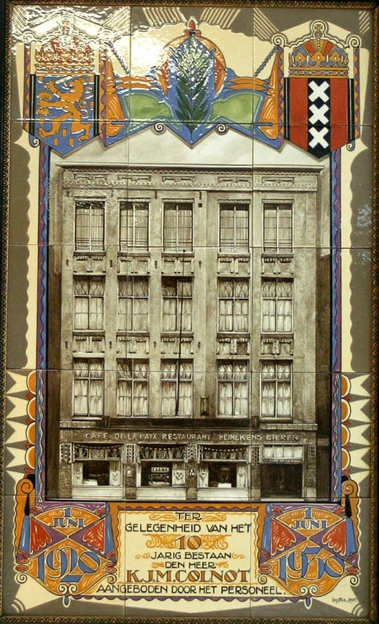 Heystee-HPB, gelegenheidstableau Colnot, 1930 (coll. Meentwijck)