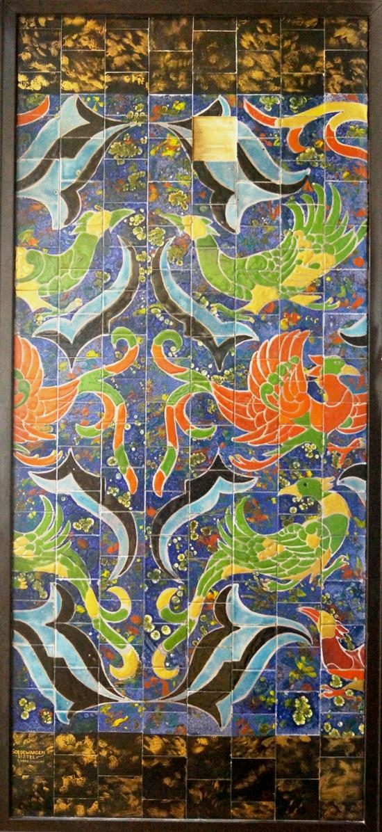 Goedewaagen-Distel, proeftableau naar ontwerp van Lion Cachet, 1927-28, h. 189 cm; coll. Righard Atsma