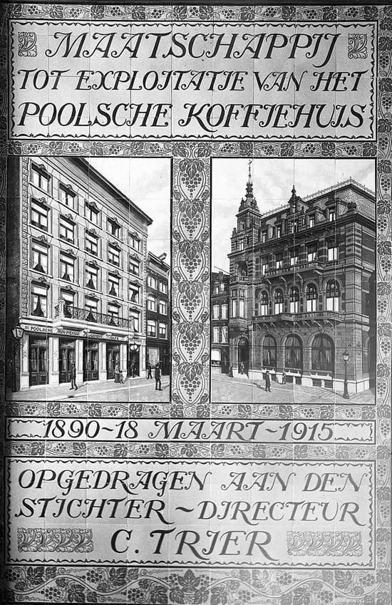 De Distel, foto van het oorspronkelijke tegeltableau, 1915; Spaarnestad-archief