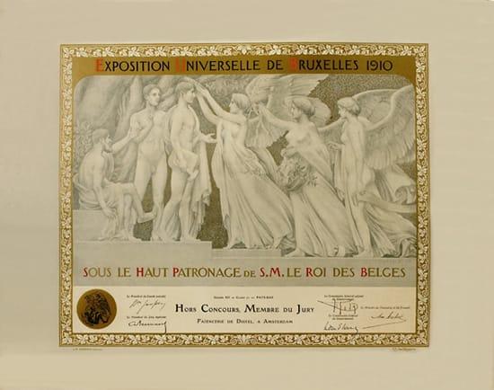 De Distel, diploma van Wereldtentoonstelling van Brussel in 1910 (coll. Meentwijck)