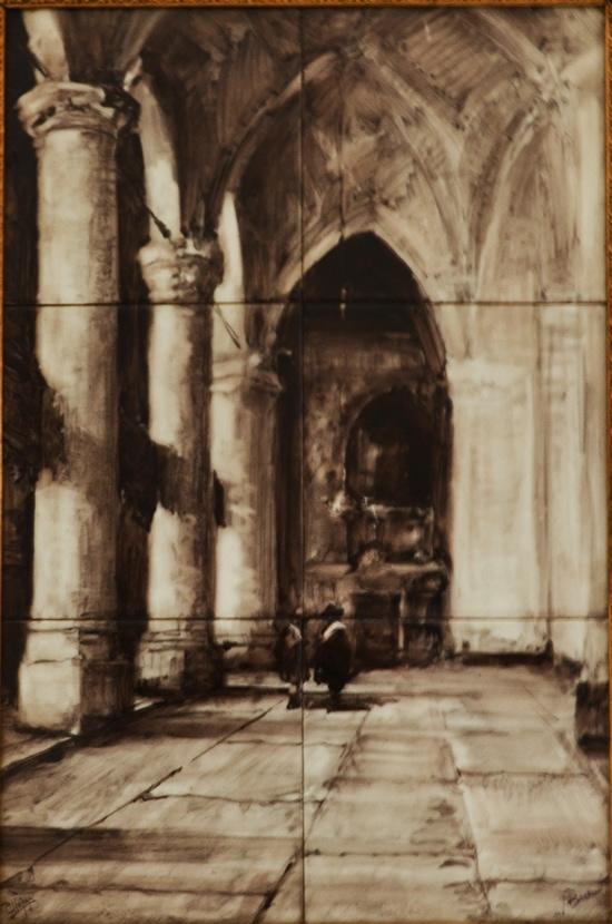 Holland-Utrecht, Grote of Jacobskerk, Den Haag, naar Bosboom, sig. J. C. Heytze, voor 1900; coll. Bert-Jan Baas
