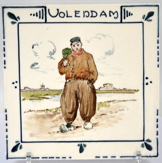 Holland-Utrecht, streekdrachttegel Volendam; coll. Bert-Jan Baas