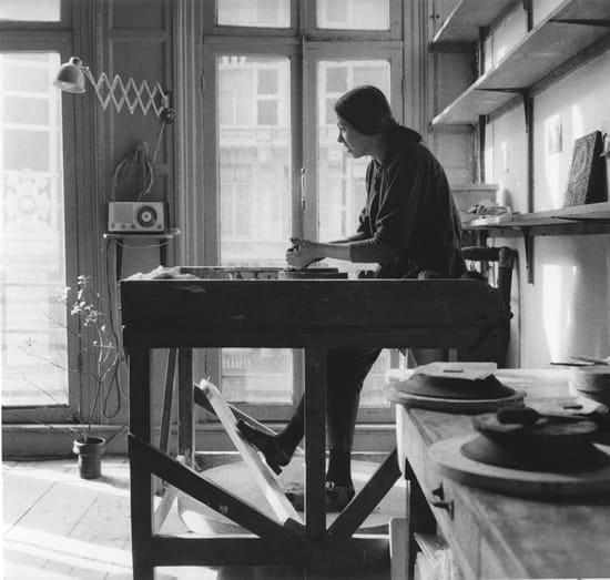 1962, Johnny Rolf op de schopschijf van Bert Nienhuis in 1962 (Foto: Frits Weeda)