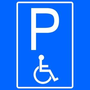 Parkeren gratis - Gehandicaptenparkeerplaats