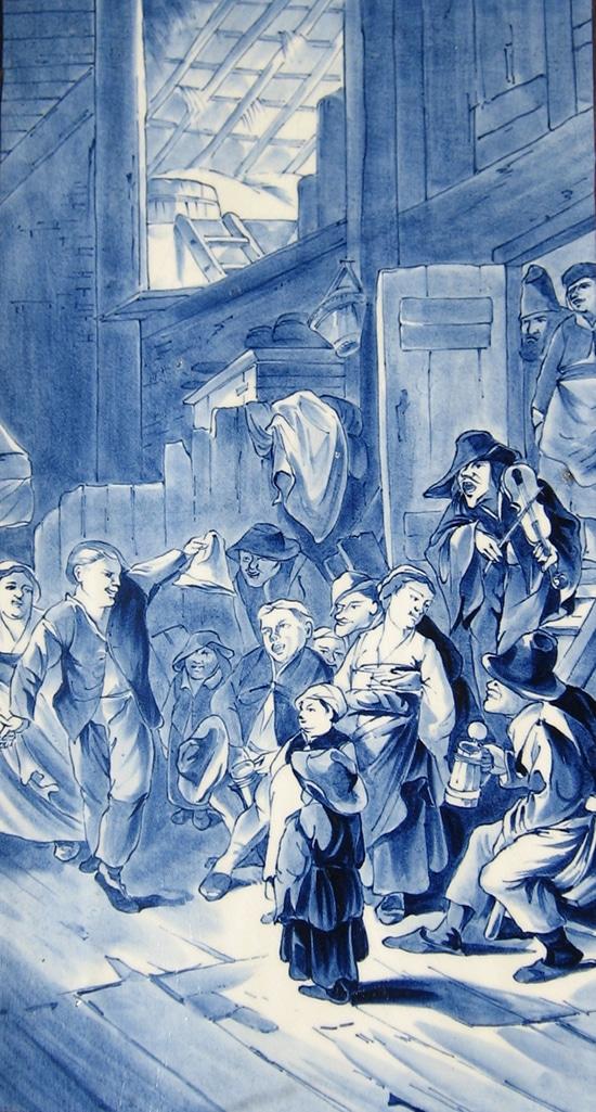Rozenburg, tegelplaat, door Gerke Henkes, 1886 (coll. Bert-Jan Baas)