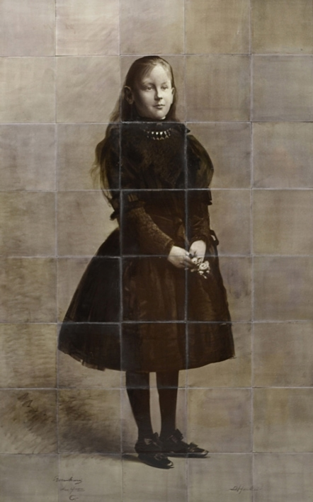 Rozenburg, tegeltableau, Prinses Wilhelmina, 5 bij 8 tegels, 1891 (coll. Meentwijck)