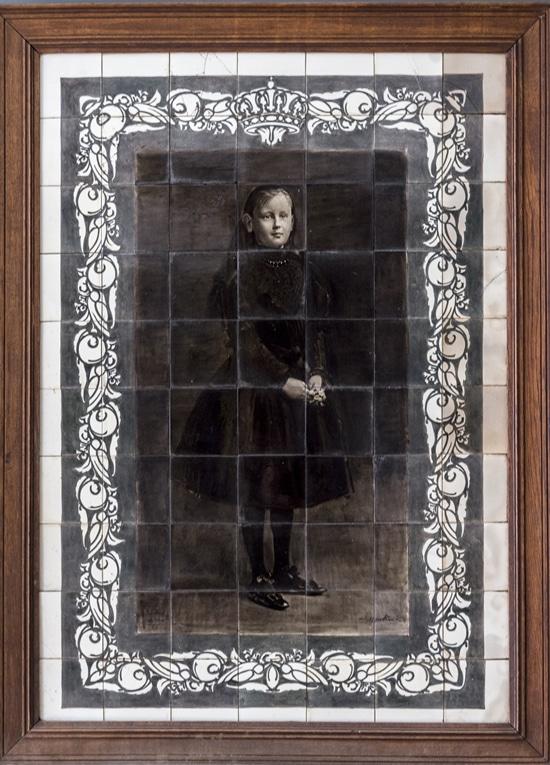 Rozenburg, tegeltableau, Koningin Wilhelmina, 7 bij 10 tegels, 1898-1902 (coll. Zuid-Afrikahuis, Amsterdam - foto G. Serné)