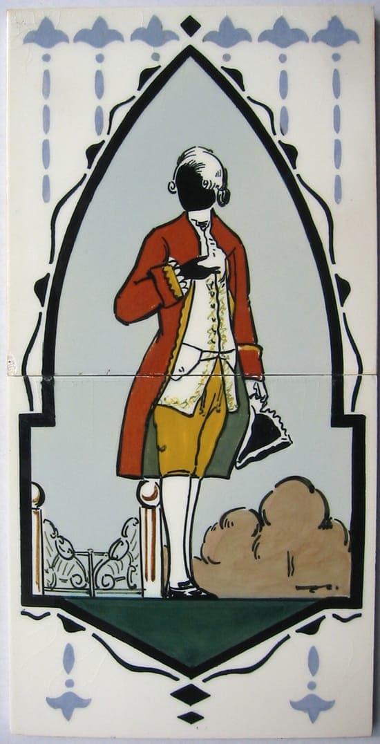 PBD, uit serie Founding Fathers, tegeltableau George Washington, vermoedelijk 2e helft jaren 20 (coll. Bert-Jan Baas)